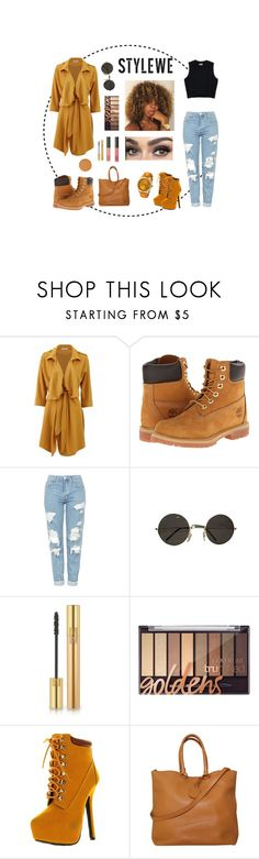 """Stylewe Outwear For Autumn"" by luna-numa ❤ liked on Polyvore featuring Timberland, Topshop, Yves Saint Laurent, NARS Cosmetics, Bonnibel, Prada and Invicta"