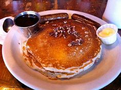 """Pancakes at Ria's Bluebird in Atlanta--voted the """"world's best"""" by the NYT"""