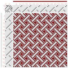 Hand Weaving Draft: Figure 589, A Handbook of Weaves by G. H. Oelsner, 8S, 8T - Handweaving.net Hand Weaving and Draft Archive