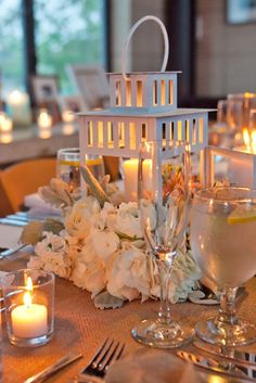 21 Amazing Lantern Wedding Centerpiece Ideas ❤ See more: http://www.weddingforward.com/lantern-wedding-centerpiece-ideas/ #weddings #decoration