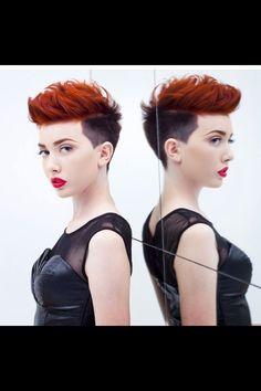 Two tone short hair
