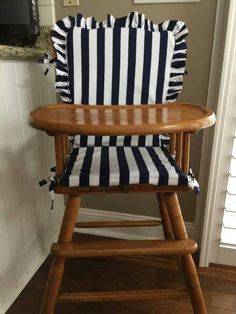High chair pad /Jenny Lind high chair cushion / wooden high chair pad / highchair cushion / highchair pad / vintage / monogrammed - New Site Cute Desk Chair, Chair Redo, Chair Makeover, Diy Chair, Chair Pose, Vintage High Chairs, Wooden High Chairs, Jenny Lind, Highchair Cover