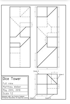 Plans for dice tower Catan Board Game, Board Games, Naruto Symbols, Dm Screen, Dice Tower, Game Terrain, Wargaming Terrain, Tabletop Games, Crafty Craft