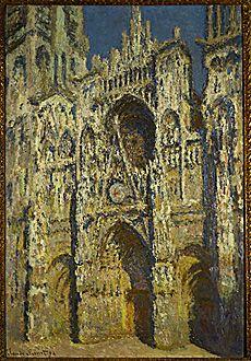 La Cathedrale de Rouen, Full Sun, Blue Harmony & Gold, 1894, Claude Monet