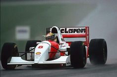 21 years ago today, at @DoningtonParkUK, Ayrton Senna drove the race of his life. #F1 #Legend #RainMaster