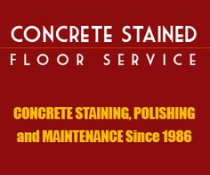 Concrete Staining  If you no longer enjoy looking at your dull-looking, gray concrete floor, and you are covering it with rugs and carpets already, then it is probably time to do some concrete staining. You can do the floor staining on your own, however, it is still best to leave such job to professionals to avoid damaging your floor.