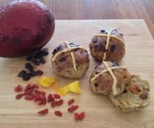 Recipe Hot Cross Buns (Gluten, Dairy, Yeast and Refined Sugar free) by Thermo Sensation - Recipe of category Baking - sweet Sugar Free Recipes, Almond Recipes, Sweet Recipes, Real Food Recipes, Healthy Recipes, Gluten Free Treats, Gluten Free Baking, Thermomix Desserts, Thermomix Bread
