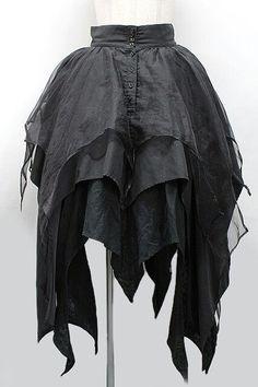 Goth layered skirt