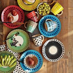 Exotic: The West Elm Potter's Workshop Tableware — available in a variety of patterns — features hand-painted dishes inspired by the work of South African artists.