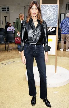 Every Single Outfit Alexa Chung Wore This Fashion Week via @WhoWhatWearUK