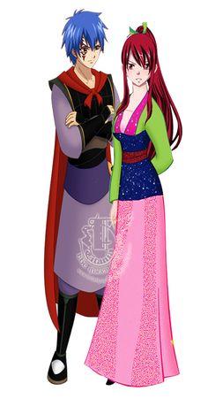Jellal and Erza disney crossover by enchantic-erza.deviantart.com on @DeviantArt