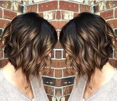 Hairstyles brunette 38 Super Cute Ways to Curl Your Bob - PoPular Haircuts for Women 2019 Ombre, Curly Bob Haircut - Beloved Brunette Bob Hairstyles for Ladies Bob Haircut Curly, Curly Bob Hairstyles, Pretty Hairstyles, Bob Hairstyles Brunette, Hairstyles 2018, Ladies Hairstyles, Everyday Hairstyles, Short Haircuts, 50 Year Old Hairstyles