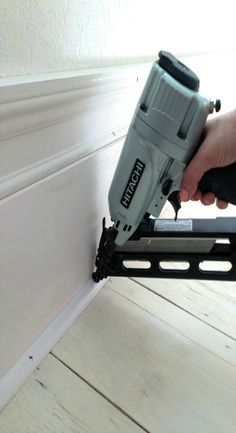 DIY Extra Tall Baseboards - instant character in a room