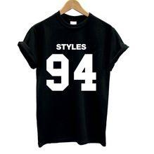 Mulheres camisetas HARRY STYLES 94 algodão estampado ocasional camisa engraçada para Lady branco preto Top Tee Harajuku Hipster Street Wear ZT203-113(China (Mainland))