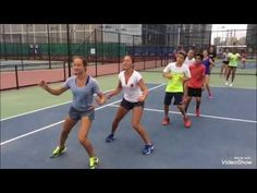 Tennis fitness drills on the court - YouTube