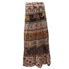 Mogulinterior Casual Wrap Skirt Cotton Indian Designer Beach Wrap Around Skirt
