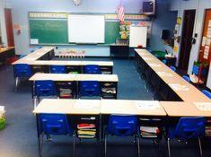 desk arrangements for 20 students Classroom Layout, 3rd Grade Classroom, Classroom Organisation, Classroom Setting, Classroom Design, Future Classroom, Classroom Management, Classroom Ideas, Seating Chart Classroom