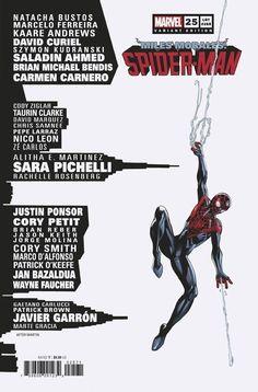 Miles Morales: Spider-Man #25 | Variant cover art by Mark Bagley Spiderman, Batman And Superman, Marvel Comic Books, Marvel Comics, Cory Smith, Sara Pichelli, Justice League 1, Beta Ray Bill, Mark Bagley