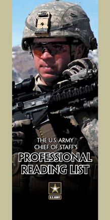 The Army Chief of Staff's professional reading list.