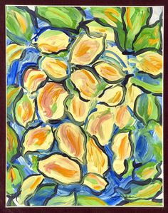 A photo of The Lemons - abstract, expressionistic