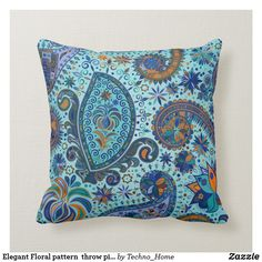 Shop Elegant Floral pattern throw pillow created by Techno_Home. Pillow Cover Design, Pillow Covers, Custom Pillows, Your Design, Bedroom Ideas, Throw Pillows, Make It Yourself, Elegant, Knitting