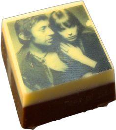 Chocolat personnalisé - Un chocolat praliné avec votre photo ! ou avec un message texte. un cadeau super original !