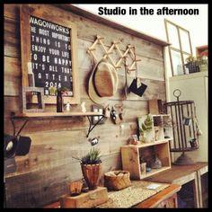 Studio in the afternoon~毎日がDIY~ ☆DIYで玄関完成!渋!☆
