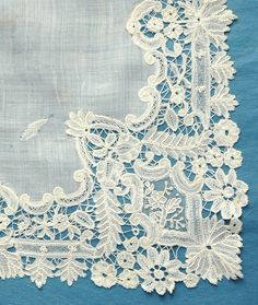Antique Vintage Brussels Duchesse and Point de Gaze Lace Handkerchief | eBay