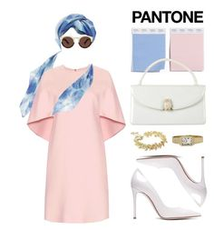 """Tremendously Chic Pantone Inspired Look"" by pokets ❤ liked on Polyvore featuring beauty, Nordstrom, Valentino, Illesteva, Judith Leiber, Gianvito Rossi, Chanel, Raymond Weil and vintage"