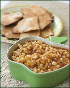 Apple Pie Dip & Cinnamon-Sugar Tortilla Chips    Ingredients: