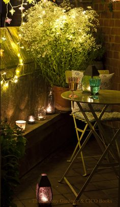 Cozy corner, lighting |Three Dogs in a Garden: Small Space Gardens
