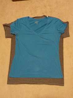 Altering a boxy t-shirt to fit your shape.