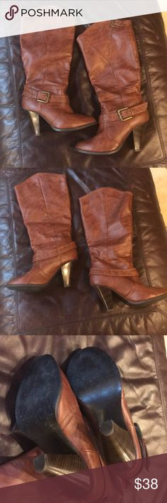 Rampage boots Below the knee, slight heel Rampage brown boots, very good condition Rampage Shoes Heeled Boots