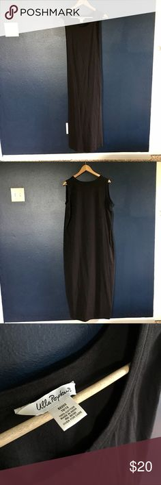 Ulla Popken Sleeveless Tee Dress Ankle length with a small side slit vent. Crew neck, comfy like a tee shirt. Worn once. 100% cotton. Need measurements? Have questions?? Don't hesitate to ask!! Ulla Popken Dresses Maxi