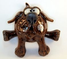 Hand thrown on the potters wheel. Raku Pottery, Pottery Sculpture, Lion Sculpture, Rockhopper Penguin, Clay Cats, Fish Ornaments, Baby Seal, Baby Turtles, Little Fish