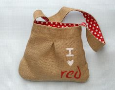 Little burlap bag tutorial.