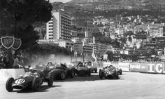 1958 Monaco Grand Prix, with Jack Brabham (No16) on the outside