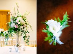 White floral with greenery boutonniere   Whim Florals  Sacred Oaks Wedding | Audra + Andrea | Al Gawlik Photography