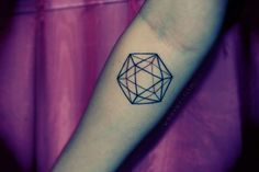 Icosahedron, one of the five platonic solids, done by Jen M @ New Tribe in Toronto.