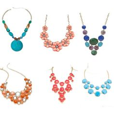"""A couple of statement necklaces"" necklaces wardrobe staples"