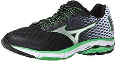 Mizuno Men's Wave Rider 18 Running Shoe #shoes http://www.theshoespack.com/mizuno-mens-wave-rider-18-running-shoe/  Mizuno Men's Wave Rider 18 Running Shoe A full-length Parallel Wave plate disperses impact as it provides both cushioning and support in a superlight running shoe with a sculpted fit. Updated SmoothRide engineering and superlight construction - lighter than previous versions of this shoe - will