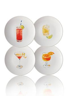 Rachael Ray Dinnerware Cocktails 4-Piece Stoneware Party Plate Set is perfect for summer entertaining!