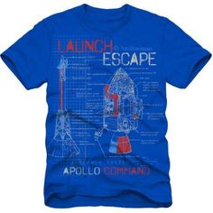 Smithsonian Apollo Space Boys Short Sleeve Graphic Tee, Size: 6/7, Blue