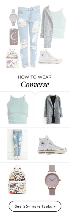 """Luna"" by xfallen-starsx on Polyvore featuring Converse, Olivia Burton and Anya Hindmarch"