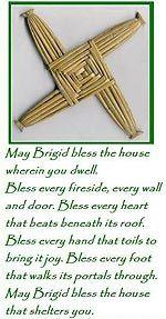 Happy Feast of St Brigid of Ireland. We love our Irish saints as we have a family history that links us back to the 'Isle of Erin.' So thi. Brigid's Cross, Cross Link, Irish Quotes, Irish Sayings, Irish Blessing, House Blessing, Irish Prayer, Sabbats, Irish Celtic