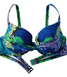 Maidenform Paisley Underwire Push-Up Bikini Top