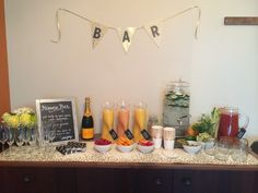 Champagne Brunch Bar - build your own mimosa!
