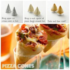 DIY Delicious Pizza Cones | iCreativeIdeas.com Follow Us on Facebook --> https://www.facebook.com/icreativeideas