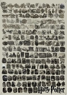 Every single piece of Harry Potter chapter art in one poster. Need immediately.