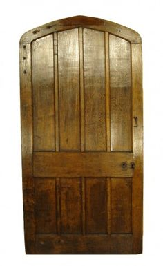 18TH CENTURY ENGLISH ARCHED OAK DOOR - UK Architectural Heritage
